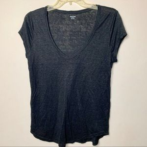 Madewell Black lined short sleeves Shirt | L